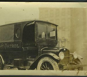 This police vehicle, circa 1920, was more commonly known as a 'paddy van.' (Photo/NLEM)
