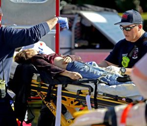 Newly-released audio reveals responders scrambling to get the wounded out of the freshman building after Nikolas Cruz killed 17 people. (Photo/AP)