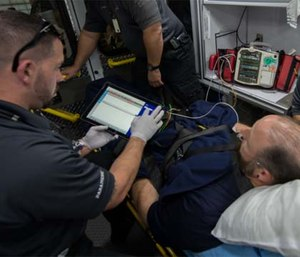 EMS field personnel need to know the risks of cybersecurity threats and how to protect patient data. (Photo courtesy MedStar)