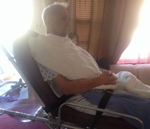 Ross Leonardo posted photos of his father after he was discharged. (Facebook photo)