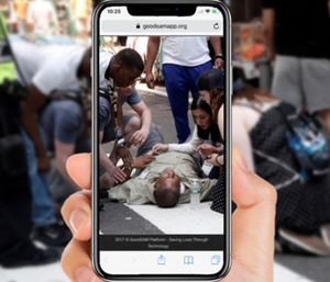 "The GoodSAM App has a new feature called ""Instant on the Scene"" that sends a live stream video to medics that lets them see the patient before taking off. (Photo/GoodSAM)"