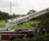 Photos: Trump checks out fire truck at 'Made in America' event