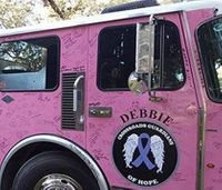 Cancer survivors invited to visit pink fire truck