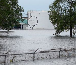 The Arkema Inc. chemical plant is flooded from Tropical Storm Harvey. (Godofredo A. Vasquez/Houston Chronicle via AP)