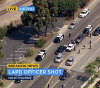 LA SWAT officer shot as suspect livestreams shootout