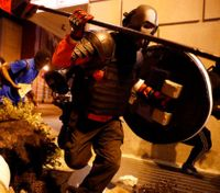Video: Police report arrests in 3rd night of violent protests
