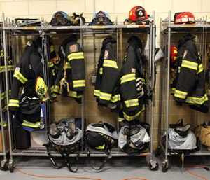The question is whether turnout gear is one of the contributing PFOA exposure sources for firefighters. (Photo/FEMA)