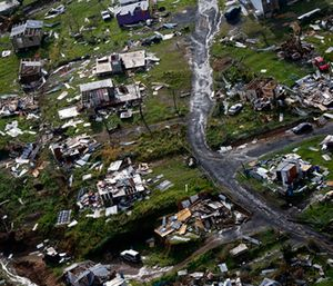 Destroyed communities are seen in the aftermath of Hurricane Maria in Toa Alta, Puerto Rico. (AP Photo/Gerald Herbert)
