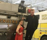 Firefighters hold 'Blizzard Prom' photoshoot for teens at station