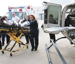Wesley Healthcare and the area's two air ambulance services are partnering to provide increased training for medical crews transporting critically ill children. (Photo/LifeSave Transport)