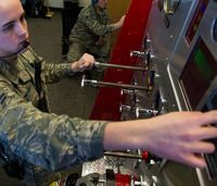 Air Force firefighters train for sub-zero temperatures with simulator