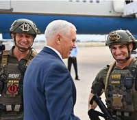 Fla. sgt. disciplined for wearing 'QAnon' patch in VP photo