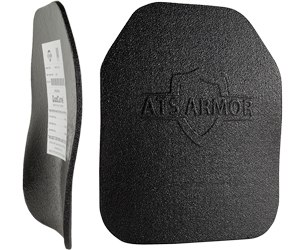 ATS Armor's QuadCurve plates incorporate four distinct curves into a single torso plate that fits both the front and the back of a wearer. The design also yields performance that exceeds NIJ standards for ballistic protection. (image ATS Armor)
