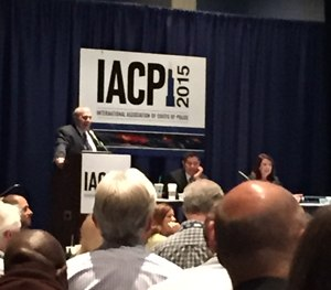 Denver (Colo.) Deputy Chief David Quinones, along with psychologists Sara Garrido and John Nicoletti, speak at IACP 2015. (PoliceOne Image)