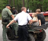 Rangers rescue father, 2 kids in SC national park