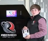 Teen invents, sells first aid vending machine