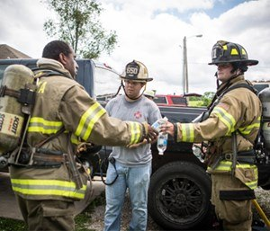 Firefighters take health risks every single time they walk through the bay doors of their fire station. (Photo/Joe Thomas of Greenbox Photography)