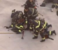 Calif. fire captain rescued after nearly falling through roof