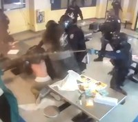 Video: Rikers COs use pepper spray to take down 10 inmates during fight