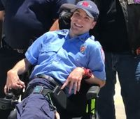 Firefighter with cerebral palsy surprised with new wheelchair
