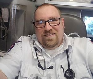Rory Barros, an East Texas Medical Center paramedic, was critically injured when he was hit by a drunk driver on scene. (Photo/ETMC)