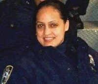 Officer injured in NY fire leaves hospital