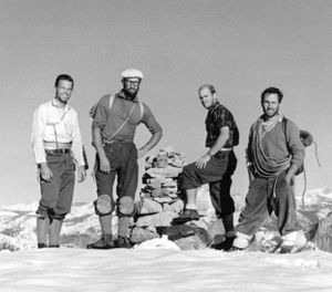 Royal Robbins with the North America wall team (Image/Tom Frost)