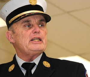 Utica Fire Chief Russell Brooks has been on administrative leave for about 14 months, and still hopes to return to duty before retirement. (Photo/Ancient Order of Hibernians)
