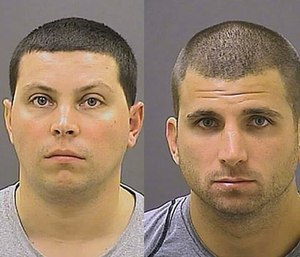 Andrew Nappi (left) and Scott Smith (right). (Baltimore Police Department via AP)