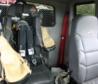 Do you think a fire officer should ride in the backseat?