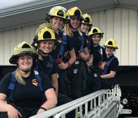 Fire dept. staffs shift with all female firefighter crew