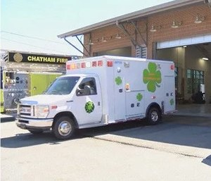 The new Chatham Emergency Services is decked out with shamrocks and they will debut it to the public in the St. Patrick's Day parade. (Photo/CES)