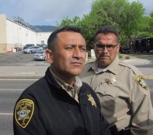 In this April 26, 2016 file photo, Bernalillo County Sheriff Manuel Gonzales discusses an officer-involved shooting in Albuquerque, N.M. (AP Photo/Mary Hudetz, File)