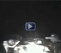 Video: Troopers nearly struck as Jeep sideswipes car