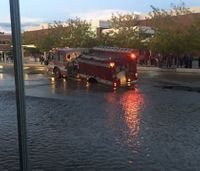 Fire truck trapped by sinkhole at Idaho college campus