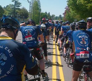 The participants began their journey in Boston on Saturday and will have traveled over 500 miles when they reach the National Harbor. (Photo/National EMS Memorial Bike Ride)