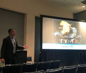Bart van Leeuwen's end goal is to enable firefighters to connect all the dots of information available to them to attack these unique incidents. (Photo/Kerri Hatt)