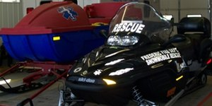 Many fire departments have turned to snowmobiles and ATVs as important apparatus for search and rescue operations.