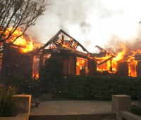Wine country wildfires torch Calif. homes