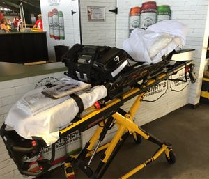 A cot or stretcher is the safest place in the ambulance for the patient. (Photo/Greg Friese)