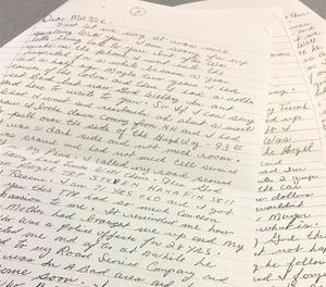 State Police shared parts of the letter online Tuesday. (Photo/ Mass. State Police)
