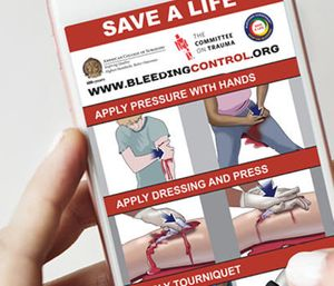 'Stop the Bleed' teaches people how to identify life-threatening bleeding and how to stop it. (Photo/Bleedingcontrol.org)