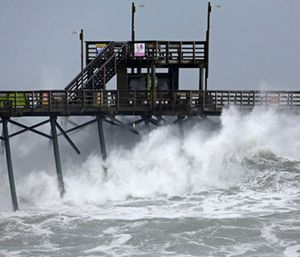 Hurricane Florence lumbered ashore in North Carolina with howling 90 mph winds and terrifying storm surge. (Photo/AP)