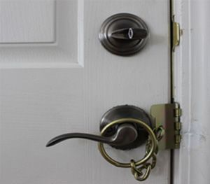 The lock is made of 60 gauge cold steal. (Photo courtesy Strike Plate Lock)
