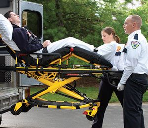 Powered patient transport equipment can reduce the frequency of on-the-job injuries that commonly occur among EMS providers. (photo/Stryker)