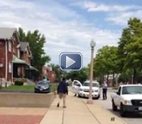 Video: Mo. police open fire in fatal standoff with knife-wielding man