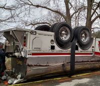 2 Md. firefighters injured in tanker rollover