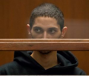 Tyler Barriss appears for an extradition hearing at Los Angeles Superior Court. (Irfan Khan/Los Angeles Times via AP)