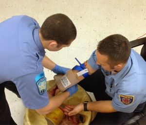 Bleeding control devices are great tools, but you must also apply direct pressure to the true source of the hemorrhage. (Photo/Rom Duckworth)