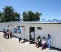 Shipping containers become tiny clinics to aid in disaster